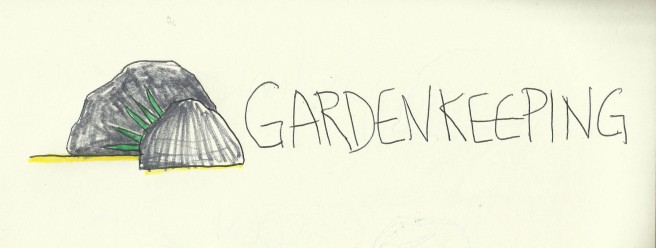 I wondered if rocks could be a logo for gardening. I actually still like this one!