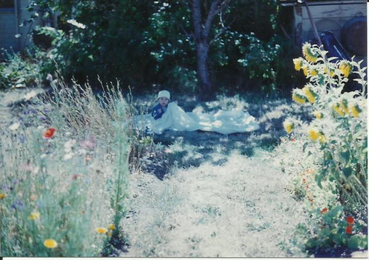 Brandon in garden