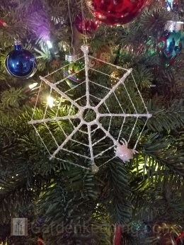 My favorite ornament, a spider and its web.