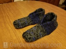 It took me two days to make these slippers!